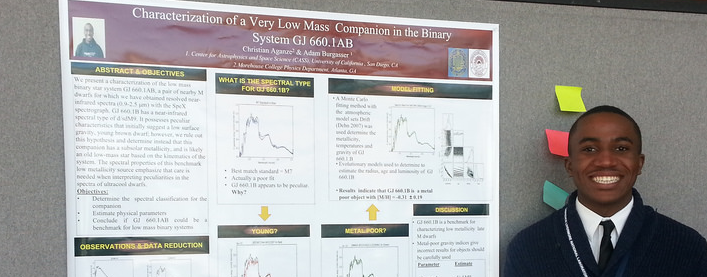 Christian Aganze presents at UCSD Summer Undergraduate Research Conference